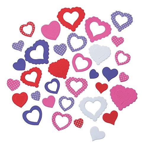 Bulk Buy: Darice Foamies Aufkleber Valentinstag austauschbar Herzen 112Teile (6er Pack) 1028-41 (Bulk Valentine Aufkleber)