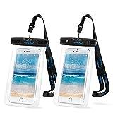 Mpow 2 Stück Wasserdichte Hülle,Staubdichte,Schneeschutzanlage Beutel Tasche für iPhone 6s / 6 /Plus / 5s / 5 / 5c/SE, Galaxy S7/ S7 edge/S6 / S6 edge / S5,Huawei P8 lite usw (6 Zoll)