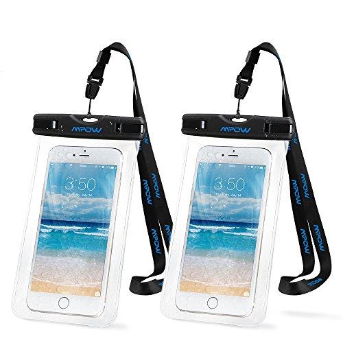 Preisvergleich Produktbild Mpow 2 Stück Wasserdichte Hülle,Staubdichte,Stoßfeste, Schneeschutzanlage Beutel Tasche für iPhone SE/ 6s / Plus / 6 / 5s / 5 / 5C usw.