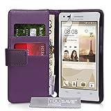 Yousave Accessories® Huawei Ascend G6 Tasche (3G Modell Nur) PU Leder Brieftasche Hülle violett