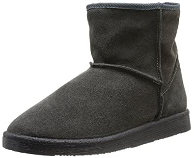 Ps Ume Suede Boot Dk Grey, Womens Biker Boots Pieces