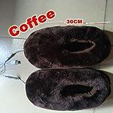 Healifty Fußwärmer Hausschuhe Winterschuhe USB Plüsch Schuhe (Kaffee) - 2