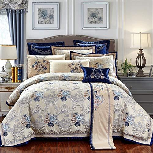xus-Bettwäsche-Sets King/Queen-Size-Baumwollbett/Flaches Blatt Set Bettdecke Bettbezug 1 King Size 6pcs ()