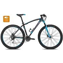 """'torpado bicicleta MTB Mercury 29""""Alu 3x 8V Disco Talla 52Negro Azul V17(MTB con amortiguación)/Bicycle MTB Mercury 29Alu 3x 8S Disc Size 52BLACK BLUE V17(MTB Front Suspension)"""