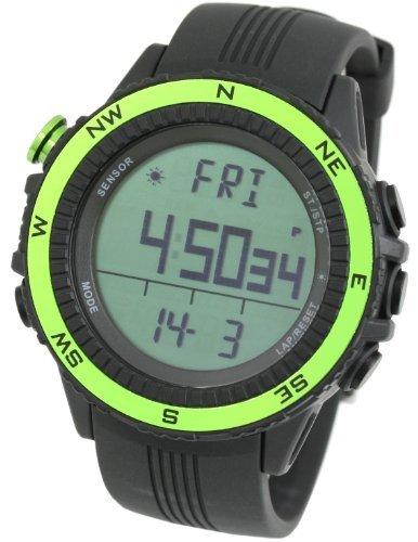 [Lad Weather] Deutsch Sensor digitaler Höhenmesser Barometer Kompass Wettervorhersage Herren Armbanduhr Hintergrundbeleuchtung Alarm Kalender -
