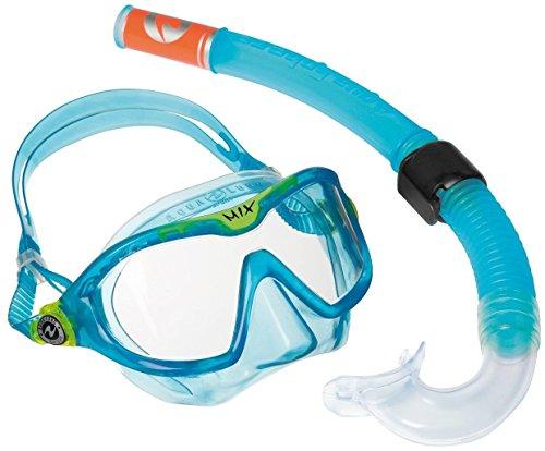 Aqua Lung Sport Kinder-Schnorchel-Set mit Tauchmaske und Schnorchelrohr Einheitsgröße Blau - Aqua
