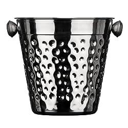 Premier Housewares Ice Bucket Hammered Stainless Steel
