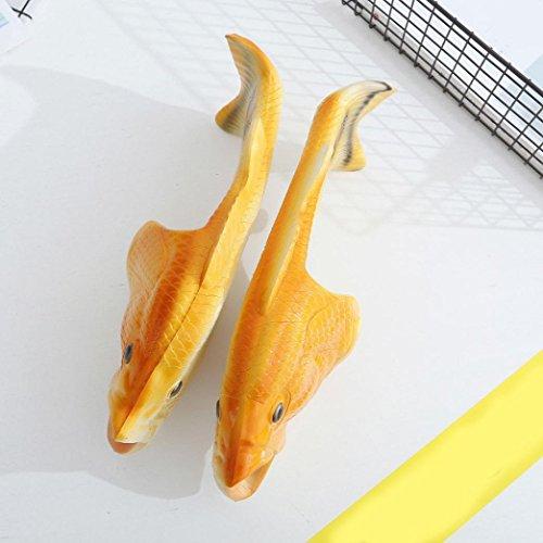 Vovotrade Pantofole da doccia, Sandali pesci unisex creativi, Scarpe divertenti da spiaggia Giallo