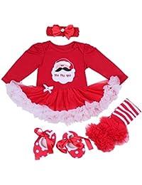 BabyPreg Neonate mio primo Natale costume della Santa del partito del  vestito 4PCS 9bddf908564