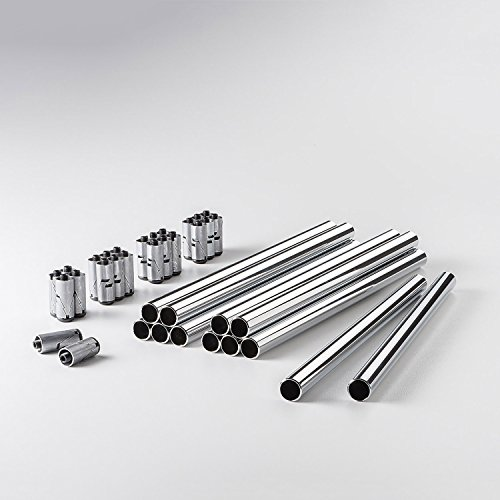 Swissmobilia Bundle 12 Rohre mit 24 Konnektoren für USM Haller, Verschiedene Maße, Systemmaß:350