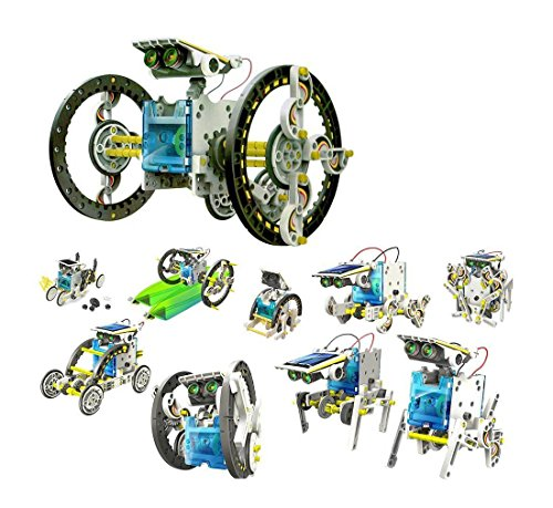 14 in 1 Educational Solar Robot Kit Kids Crab Surfer Zombie Chaser Spielzeug TS@KTW140L