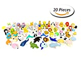 CCINEE Animal Toy Erasers Party Bag Fillers Pack of 20