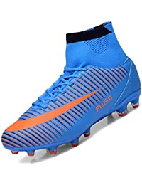 Brfash Botas de Fútbol Spike Profesionales Hombre Adulto Training High-Top Zapatos de Fútbol