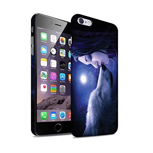 Officiel Elena Dudina Coque / Clipser Matte Etui pour Apple iPhone 6+/Plus 5.5 / Bain Caché Design / Un avec la Nature Collection Baiser de Lune