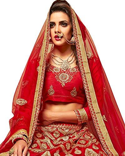 Aasva-Womens-Net-Lehenga-Choli-NMMJA7006BRedFree-Size