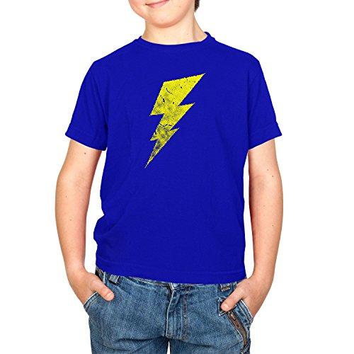 Flash - Kinder T-Shirt, Größe XL, Marine (Big Bang Theory Flash Kostüm)