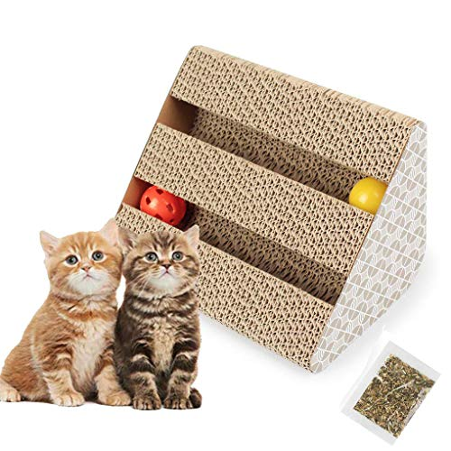 Old Tjikko Katzen Kratzbrett,Kratzbrett für Katzen mit Katzenminze,Kratzmöbel,Katzenspielzeug Beschaftigung,Katzenspielzeug Kratzmöbel Kratzmatte Kratzbretter - Kratzbrett Katzenspielzeug