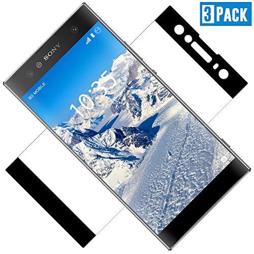Panzerglas Schutzfolie kompatibel mit Sony Xperia XA2 Ultra, [3 Stück] Vollständige Abdeckung, Ultra-HD Folie, Anti-Kratzen, Anti-Öl, Anti-Bläschen Glas Displayschutzfolie für Xperia XA2 Ultra