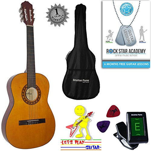 acoustic-guitar-package-3-4-sized-36-inch-classical-nylon-string-childs-guitar-pack-age-7-to-11-garc