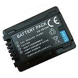 Amsahr BT-PANVWVBT380-1CT Numérique Remplacement Caméra/Caméscope Batterie pour Panasonic Vw-Vbt380/Hc-V Series: Hc-V110/V130/V160/V180 Gris...
