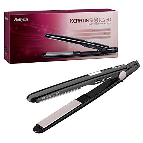 BaByliss 2079DU Keratin Shine Ceramic Hair Straighteners Black 230c - 51yFD12MI5L - BaByliss 2079DU Keratin Shine Ceramic Hair Straighteners Black 230c
