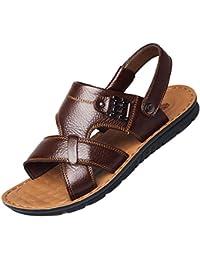 Movimiento Sandalias Al Aire Libre Hombres De Verano Zapatos De Playa Ocio De Cuero Transpirable Antideslizante