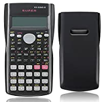 "Beautyrain 82MS B Portable Handheld Handy Multifunction Scientific Calculator 2 1"" Black For Mathematics Education Students School Calculate"