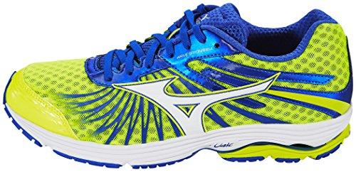 Mizuno Wave Sayonara 4, Chaussures de Running Compétition Homme safety yellow/white/dazzling blue