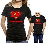 Coppia t-Shirt Nonna Nipote Festa dei Nonni -Super Nonna Super Bimbo- Tutte Le Taglie - in Cotone