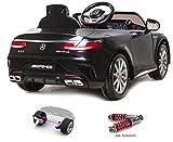 Mercedes-Benz S63 AMG Cabriolet Ride-On 12V Elektro Kinderauto Kinderfahrzeug Kinder Elektroauto (Schwarz) - 2