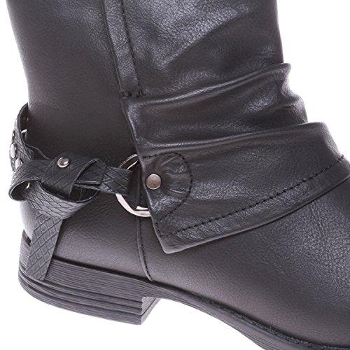 La Modeuse - Bottines en simili cuir Noir
