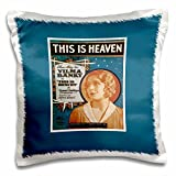 BLN Vintage Song Sheet Covers Reproductions - This is Heaven Theme Song for vilma Banky in This is Heaven - 16x16 inch Pillow Case (pc_170486_1)