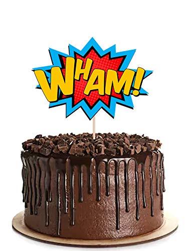 51yFIRaIraL - AK Giftshop Call out Speak - Burbujas de Dibujos Animados de superhéroes para cumpleaños, Eventos, Comida para Fiestas, Cupcakes, Palillos y Decoraciones para Banderas de Alimentos (Pack de 14)