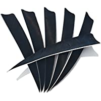 SHARROW 50pcs Archery Arrow Fletchings 5 inch Shield Cut Arrow Feather Right Wing