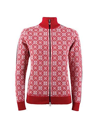 Dale of Norway Damen Jacke Frida Jacket, Raspberry/Off White/Navy/Metal, M, 82931-B (Womens Cycle Jacken)