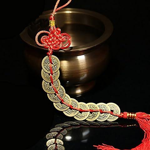 BWINKA chinoise pièces Lucky Charm sur Auspicious shui rouge feng cordon pour la richesse et le succès meilleur