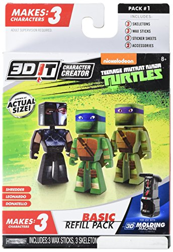 3DIT  Teenage Mutant Ninja Turtles Basic Refill Kinder -