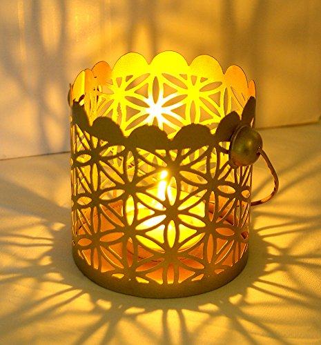 Candelabro 'flower of Life '-fiore della Vita-un splendido luce per serate di lunga-per lumino, Metallo, 9.5x9.5cm