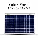 #4: Plaza 50 Watt Polycrystalline Solar Module Range 12 Volt Solar Panel for DC Connection