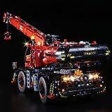 MAJOZ Jeu de LED Lumière pour Bloc de Construction - Kit De Lumière A LED Compatible avec Lego Technic La Grue Tout-Terrain 42082 (Le modèle Lego n'inclut Pas)