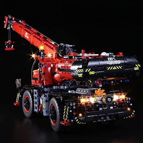 YVSoo LED Licht-Set für Baustein Spielzeug LED Beleuchtung Kit für Lego Technic Geländegängiger Kranwagen 42082- Modell Nicht Enthalten