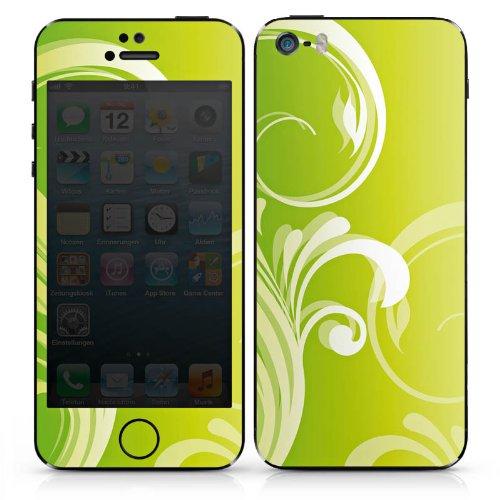 Apple iPhone 4s Case Skin Sticker aus Vinyl-Folie Aufkleber Blumen Ranken Blätter DesignSkins® glänzend