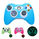 BLUE GLOW in DARK Xbox 360 Game Contr...