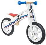 Bikestar in Legno da Corsa Bici Senza Pedali per Bambini età 3Anni Edizione Ragazza | 30,5cm | Bianco Blu Rosso