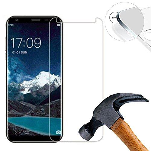2 X Pack Hart Panzerglasfolie Schutzfolie für Oukitel K5 5.7 Zoll Tempered Glass Folie Screen Protector Panzerfolie Glasfolie(Nur den flachen Teil abdecken)