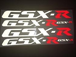 4x Felgenaufkleber (Farbwahl) Suzuki reflektierend GSX-R K1 k2 k3 k4 k5 k6 k7k k8 k9 600 750 1000ccm