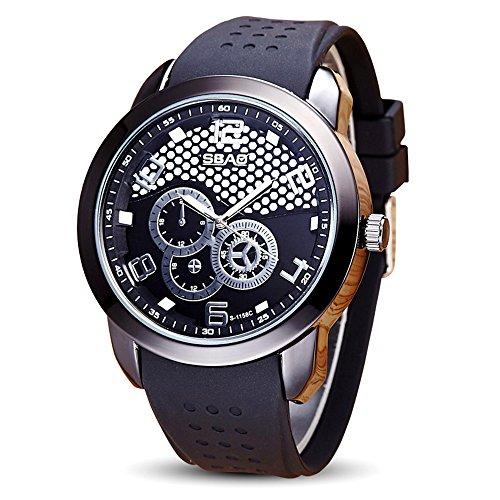 SamMoSon Relojes Hombre Resistentes Al Agua Mujer Azul Elegantes,Reloj De Los Hombres De Moda De Acero Inoxidable A Prueba De Agua Reloj De Malla Calendario Reloj De Ocio
