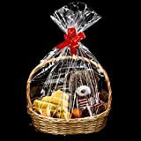 Clear Basket Bags Cellophane Wrap Plastic Bag for Gifts Baskets Party Festivals