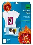 Sigel T1156 Tintenstrahldrucker Transfer-Folien für helle Stoffe/T-Shirts, 12 Blatt A4
