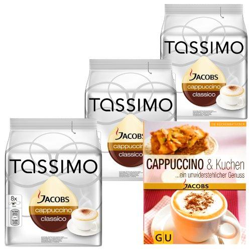 eschenkset für Weihnachten: 3 x 16 Cappuccino T-Discs + Gratis Küchenratgeber (Rezept Für Cappuccino)